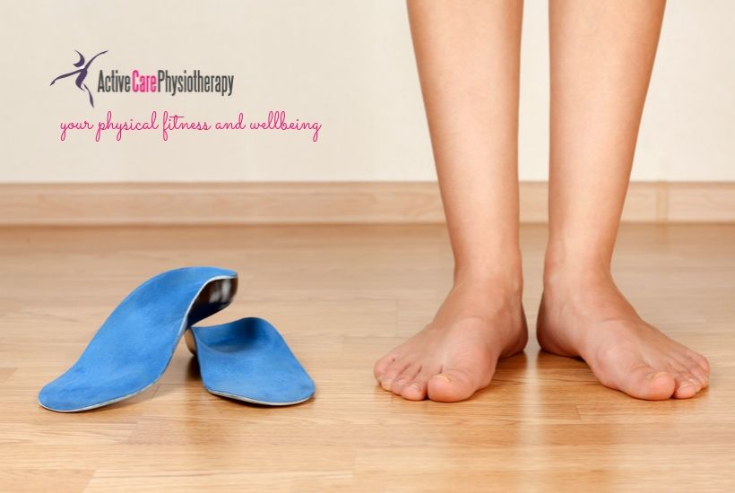 Ladies feet and orthotics