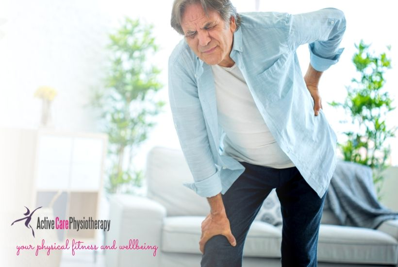 Man with back pain for physiotherapy