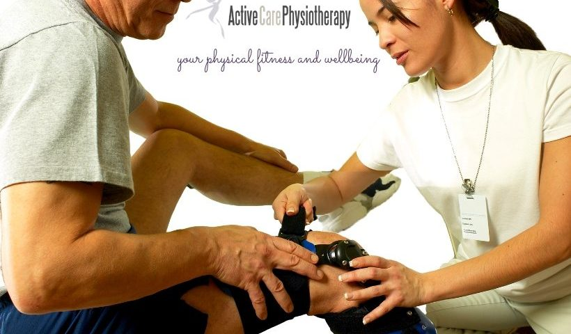 physiotherapist fitting brace